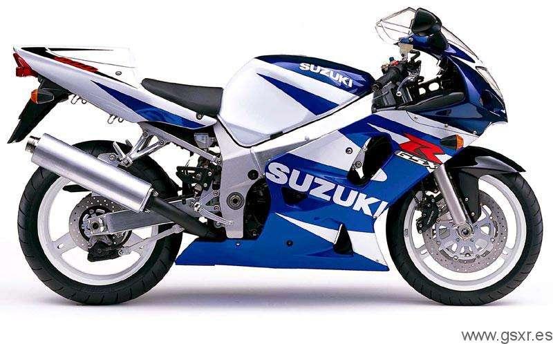 Suzuki GSXR 600 2001 Azul y Blanco