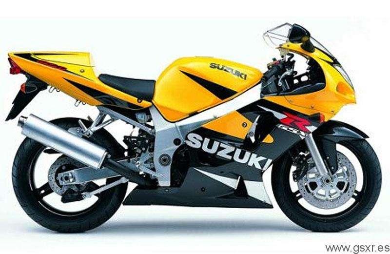 Suzuki GSXR 600 2001 Amarillo y Negro