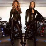 Beyonce y Jennifer Lopez con sus motos Suzuki GSXR 1300 Hayabusa