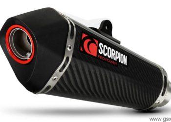 escape scorpion serket taper carbono para suzuki gsxr 600 750 2011