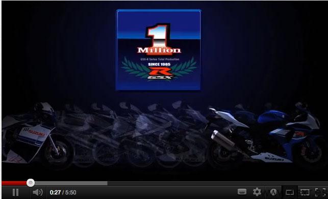 video aniversario produccion gsxr 1 millon