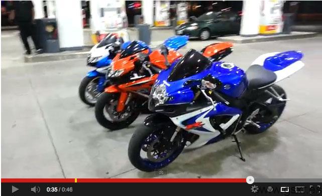 video motos suzuki gsxr gasolinera