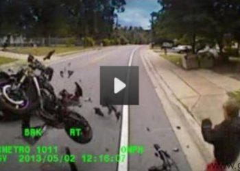 video accidente moto nick o'leary autobus