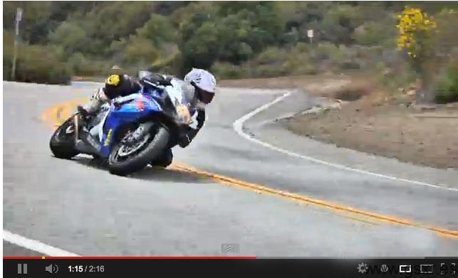 video mulholland highway moto suzuki gsxr 750