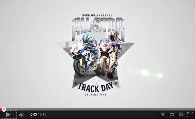 video Suzuki All Star Track Day en circuito de Silverstone