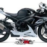 Suzuki GSX-R 600 2014 Negro y Blanco