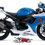 Suzuki GSX-R 750 2014 Azul y Blanco