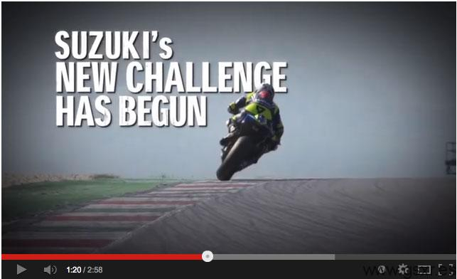 team suzuki motogp testing video 2013