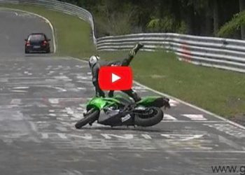 nurburgring video accidentes moto