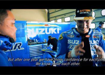 aleix espargaro video motogp team suzuki ecstar 2016