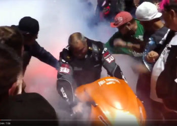 NOS Hayabusa EXPLODES in a ball of flame at WPGC Bike Fest