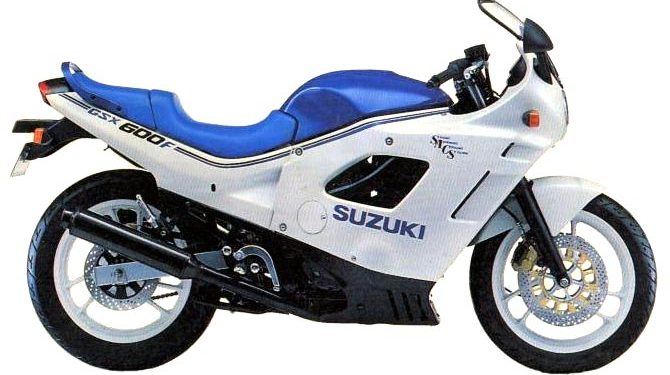 1988 Suzuki GSX600F Specifications